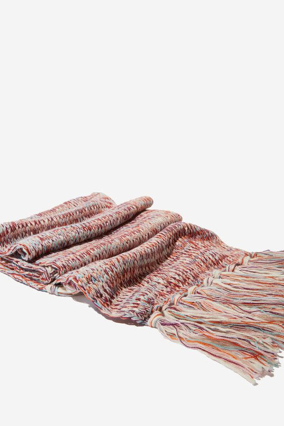 Nicky Knitted Scarf, BLUSH MIX