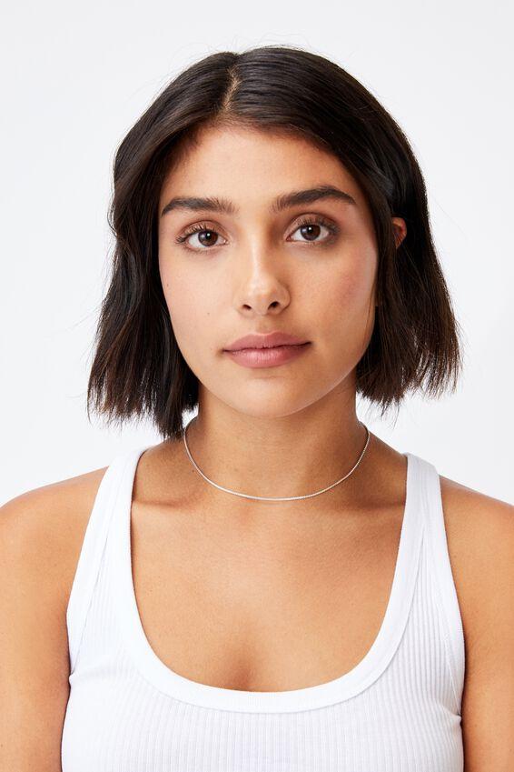 Premium Single Chain Necklace, STERLING SILVER BOX CHAIN