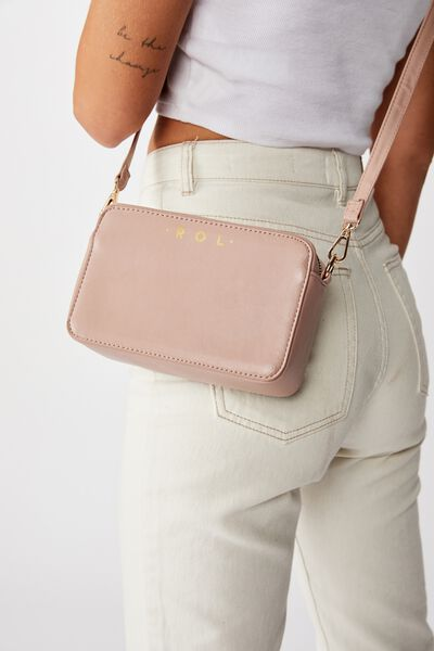 Personalised Stevie Boxy Cross Body Bag, NEW BLUSH