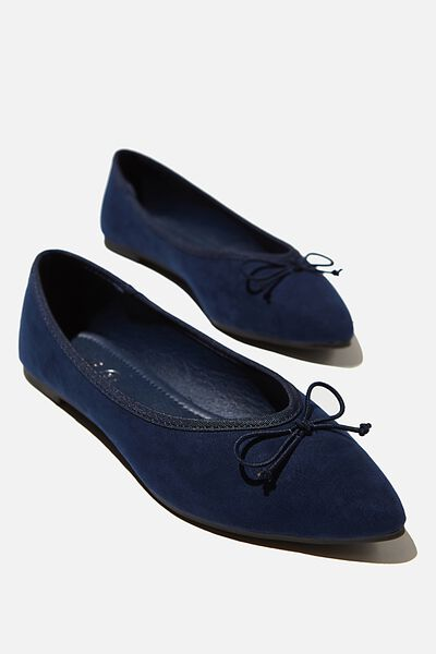 Essential Evelyn Point Ballet, NAVY MICRO