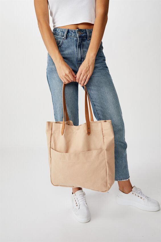 Olive Carryall Tote Bag, BLUSH