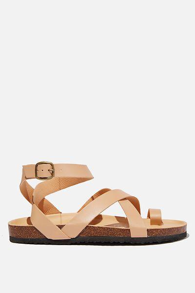 Rex Gladiator Strappy Sandal, STONE PU