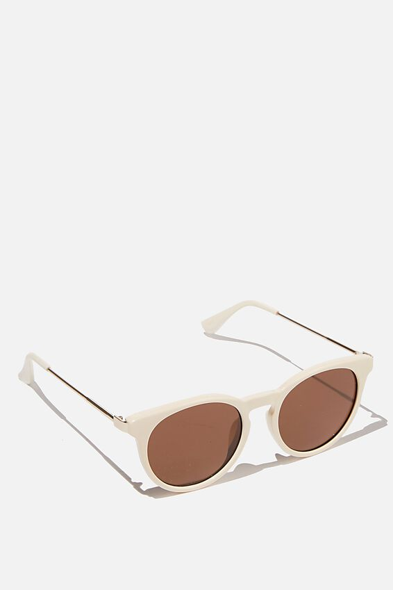 Remi Sunglasses, MILKY WHITE
