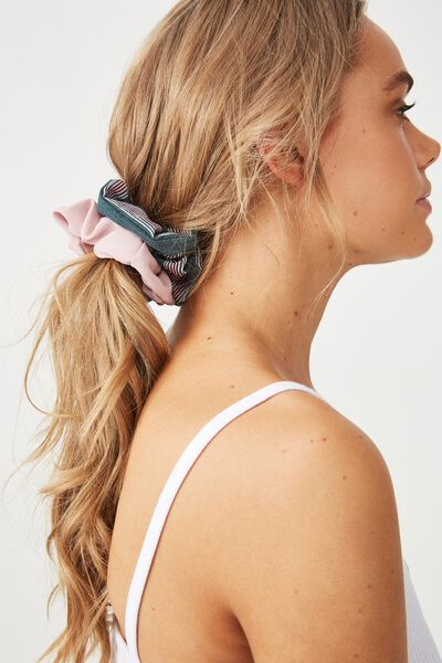 2Pk Scrunchie, LUSH MEADOW/LILAC STRIPE