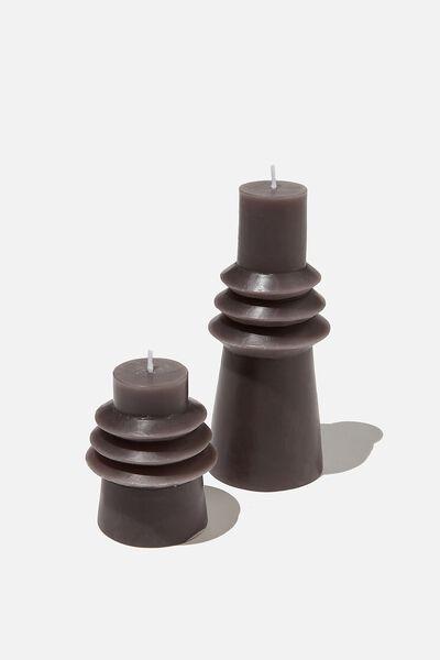 Set 2 Candles, CHARCOAL