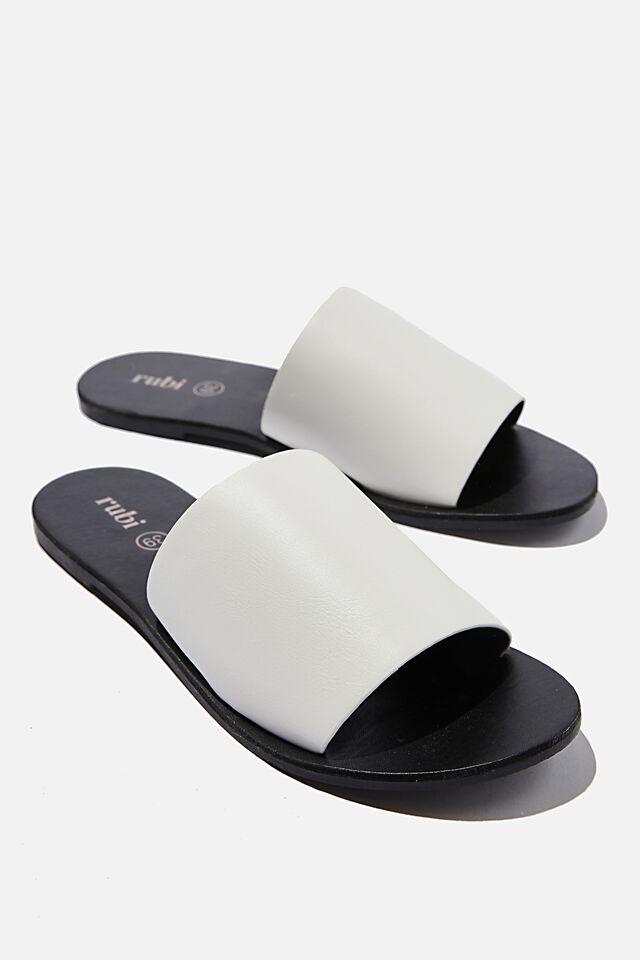 Everyday Mia Minimal Slide, WHITE SMOOTH PU
