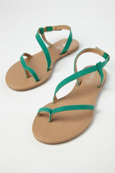 Everyday Annie Asymetric Sandal, GREENERY