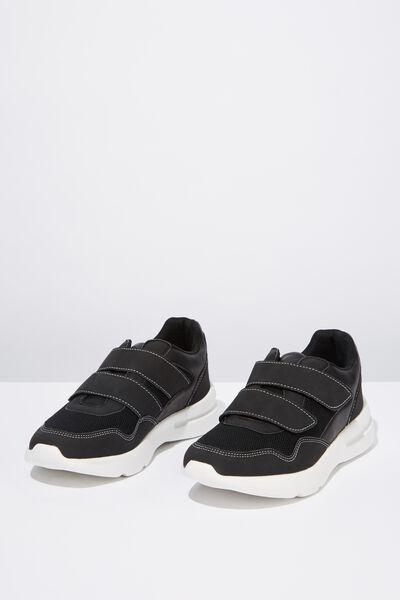 Zaya Strap Chunky Sneaker, BLACK WHITE