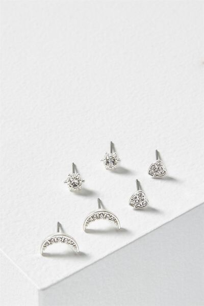 Sparkle Core Stud Pack, SILVER