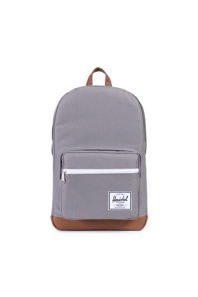 Herschel Pop Quiz Backpack, GREY/TAN SYNTHETIC LEATHER