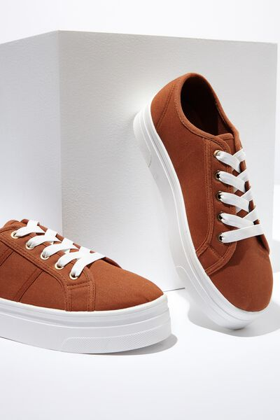 Willow Platform Sneaker, DEEP RUST DRILL