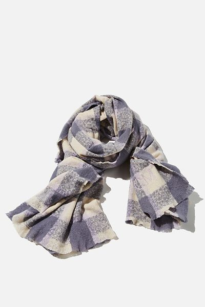Personalised Brady Blanket Scarf, LILAC BLOOM BEC CHECK