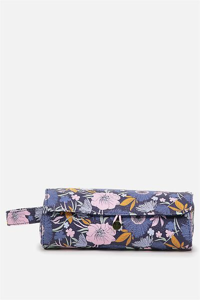 Roll Up Brush Cos Case, WILD FLORAL