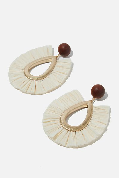 Bondi Boho Babe Earring, GOLD/NATURAL