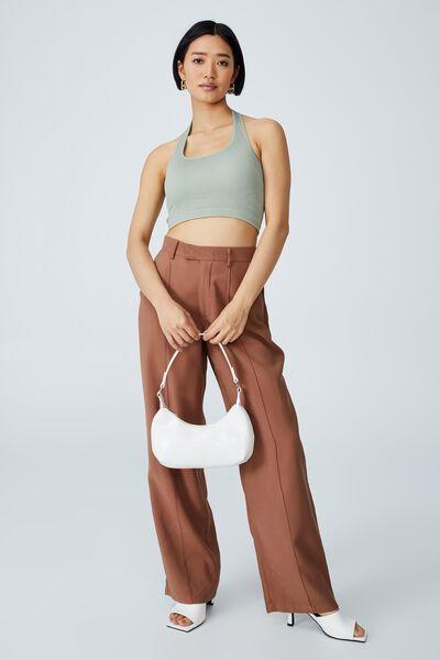 Daisy Shoulder Bag, WHITE TEXTURE