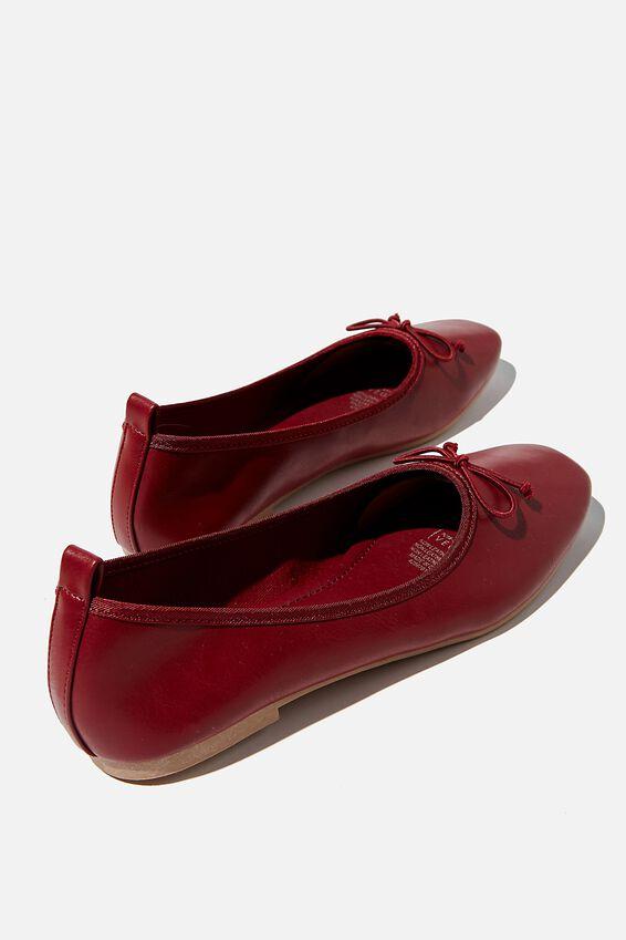 Essential Rylee Ballet, DEEP RED SOFT PU