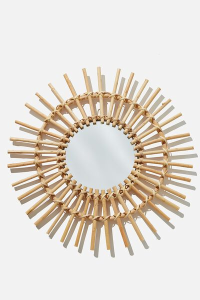 Rattan Wall Mirror, SUNRAY