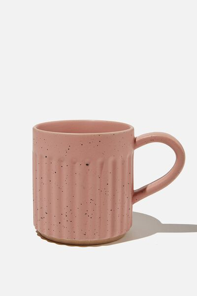 Etched Mug, ROSE CLOUD SPECKLE