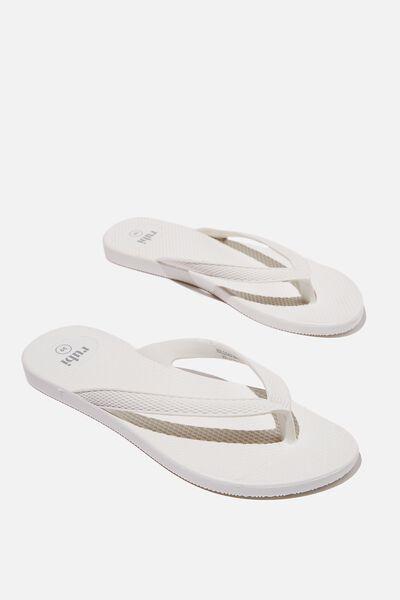 The Rubi Moulded Flip, BRIGHT WHITE