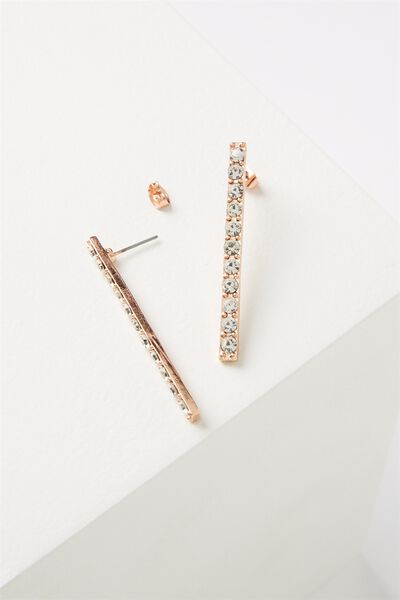 Nina Diamante Ear Bar, ROSE GOLD