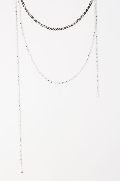 Sanfransico Necklace, SILVER