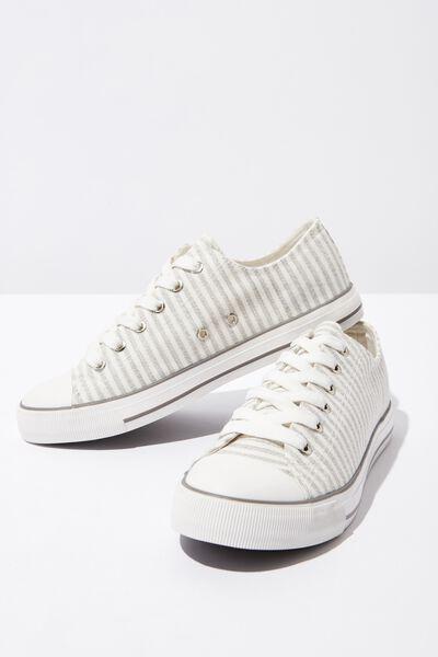 Jodi Low Rise Sneaker 1, GREY STRIPE