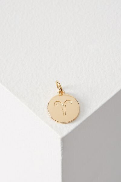 Zodiac Charm, GOLD ARIES