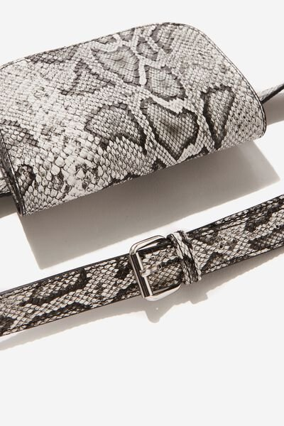 Aimee Rectangle Belt Bag, SNAKE PRINT
