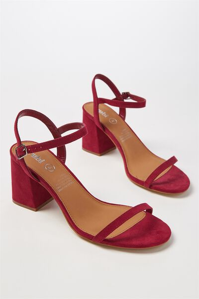 Billy Thin Strap Heel, RASPBERRY MICRO