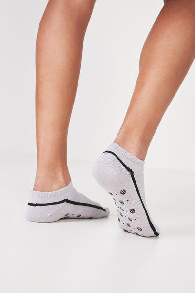 Luna Pilates Sock, GREY MARLE