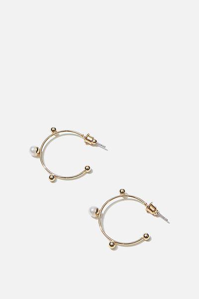 Luxe Layers Medium Oslo Hoop, GOLD