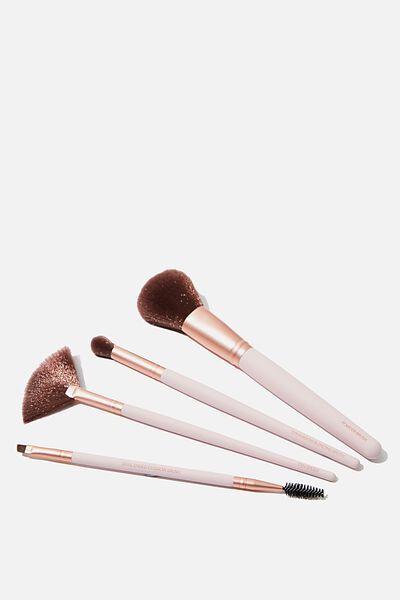 Brush Gift Set, PINK/ ROSE GOLD