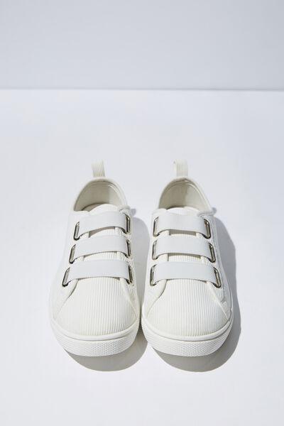 Olsen Elastic Slip On, WHITE CORD