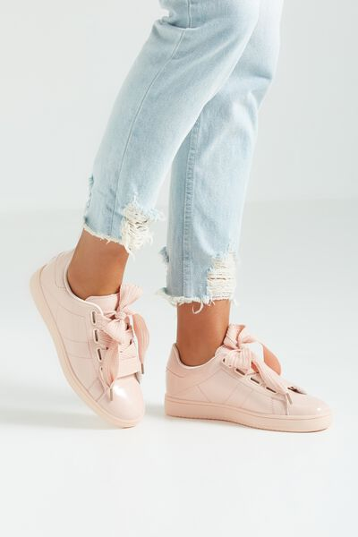 Cathryn Bow Sneaker, NUDE PATENT