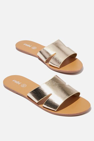 Lexi Minimal Slide, GOLD METALLIC