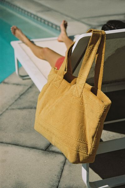 Hello Sunshine Tote, GOLDEN BROWN