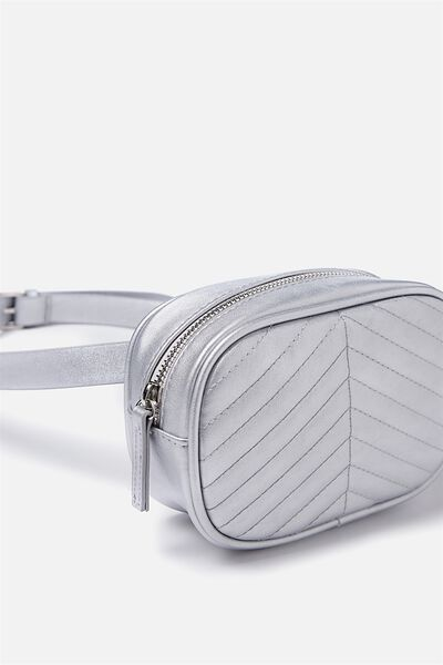 Brodie Belt Bag, SILVER