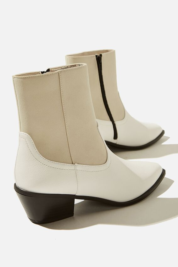 Marlie Minimal Western Boot, WHITE MULTI SPLICE