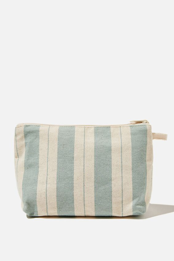Cosmetic Pouch, BIKEY STRIPE LUSH GREEN