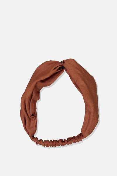 Tort Ring Headband, RUST/TORT