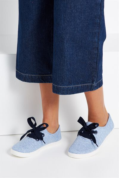 Indy Bow Plimsoll, NAVY MARLE