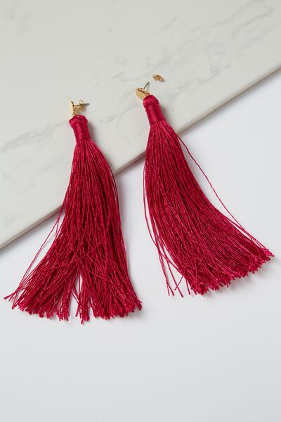 Shoulder Duster Tassel Earring, VIVACIOUS