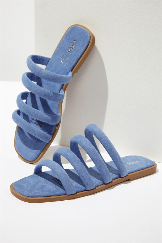 Chole Strappy Sandal, CORNFLOWER BLUE MICRO