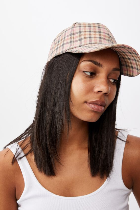 Hailey Structured Cap, HERITAGE CHECK