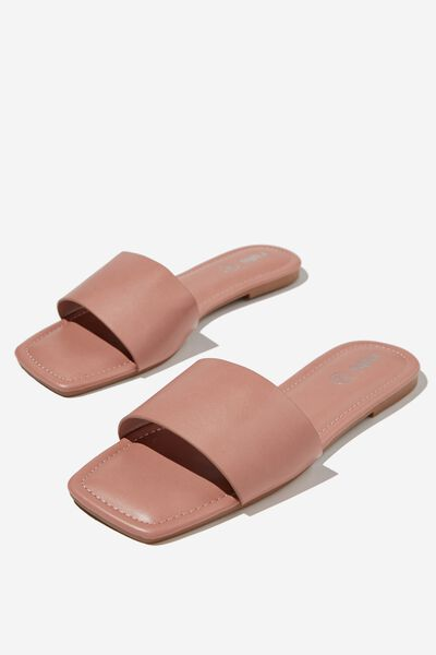 Everyday Hailey Single Vamp Slide, ROSE PU