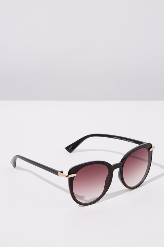 Missy Full Frame Sunglasses, BLACK