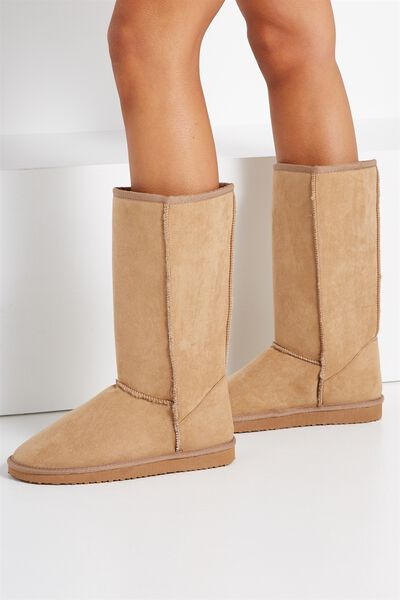 Tall Home Boot, HONEY TAN