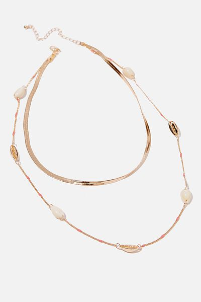 Wunderlast Trinkets Necklace, GOLD