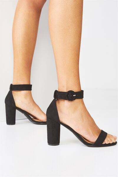 San Cosmo Round Heel, BLACK MICRO