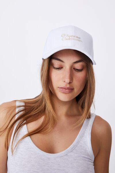 Hailey Structured Cap, WHITE/SUNRISE CLUB